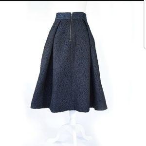 Navy Midi Chambray skirt with pockets size 8